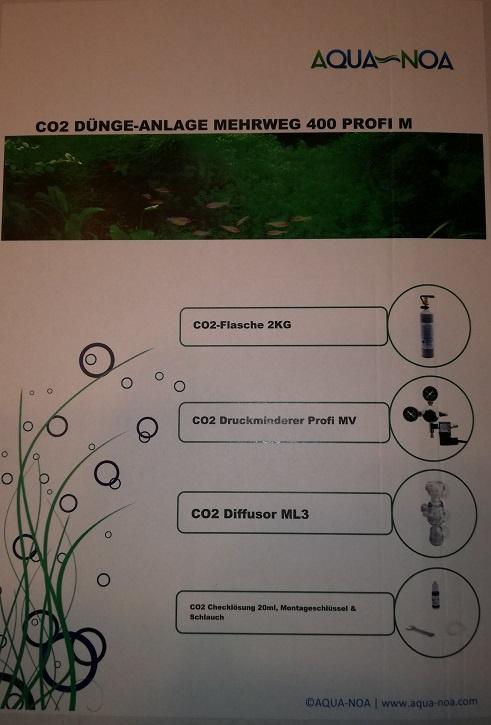 Proffesionele complete CO2 set 2 kg.