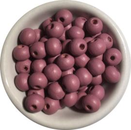Houten kralen roze 6 mm