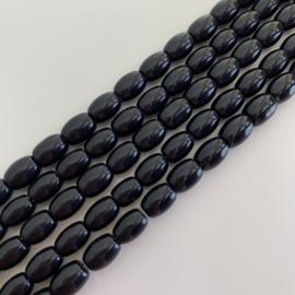Obsidiaan Black kralen rijstkorrel