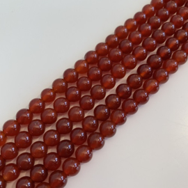 Carneool kralen 6 mm rond