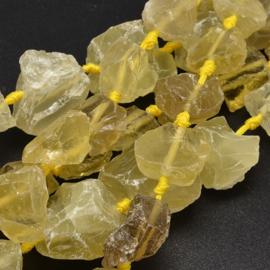 Lemonkwarts kralen 15 x 20 mm nuggets
