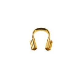 Draadbeschermer goud plated 5 mm