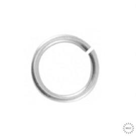 Buigring 6 mm extra dikke antiek zilver plating