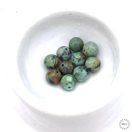 Afrikaanse Turquoise kralen 6 mm