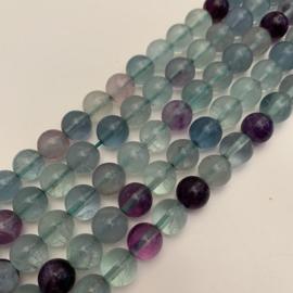 Fluoriet regenboog kralen 8 mm rond