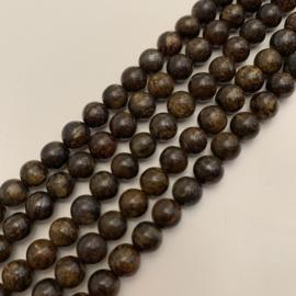 Bronziet kralen 6 mm rond
