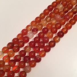 Agaat kralen oranje 6 mm