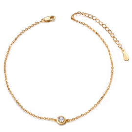 Armband Sterling Zilver 26 cm goud grote maat armband