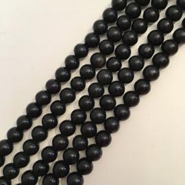 Obsidiaan Sneeuwvlok kralen 6 mm