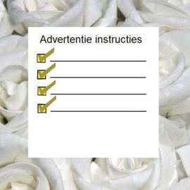 Advertentie instructies