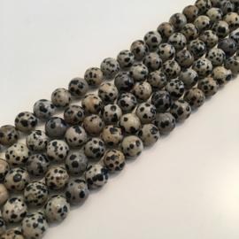 Jaspis Dalmatiër kralen 10 mm RUIG