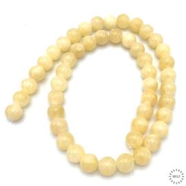 Jade geel kralen 8 mm