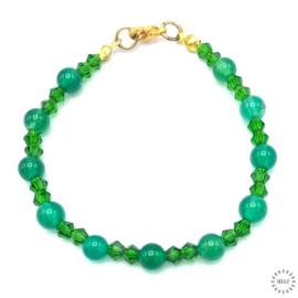 Agaat groen armband 18 cm