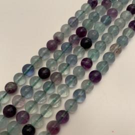 Fluoriet regenboog kralen 6 mm rond