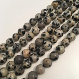 Jaspis Dalmatiër kralen 6 mm rond