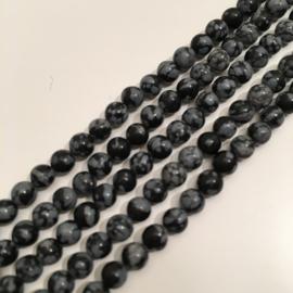 Obsidiaan Sneeuwvlok kralen 4 mm