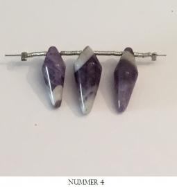 Amethist chandelier kralen