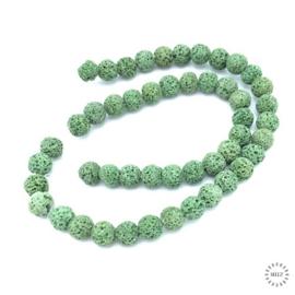 Lava kralen groen 8 mm