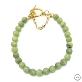 Jade armband 20 cm