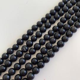 Obsidiaan Black kralen 6 mm