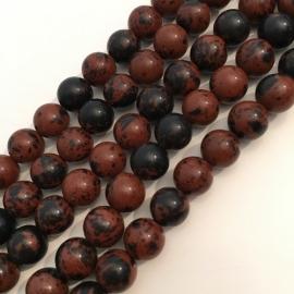 Obsidiaan Mahonie kralen 8 mm rond
