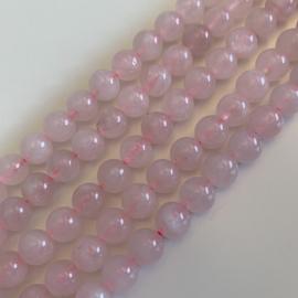 Rozekwarts kralen 8 mm rond