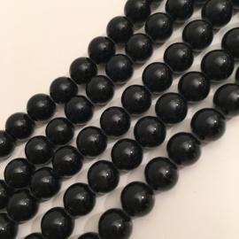 Agaat kralen zwart 8 mm