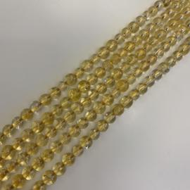 Citrien kralen 4 mm