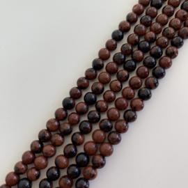 Obsidiaan Mahonie kralen