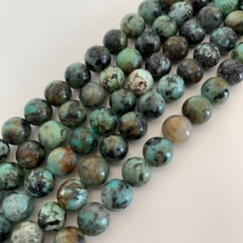 Afrikaanse Turquoise kralen 8 mm RUIG