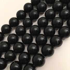 Agaat kralen zwart 10 mm
