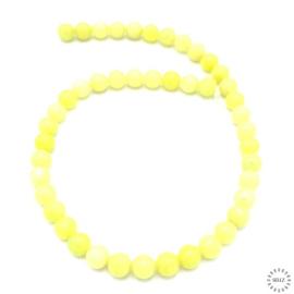 Lemon Jade kralen 8 mm rond
