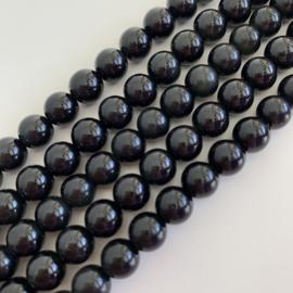 Obsidiaan groen kralen 8 mm rond