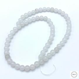 Kwarts wit kralen 6 mm rond