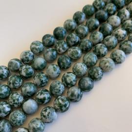 Jaspis Green Spot kralen 8 mm rond