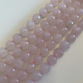 Rozekwarts kralen 8 mm facet