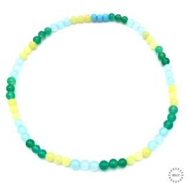 Agaat kralen groen, Agaat kralen blauw en Lemon Jade kralen