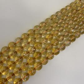 Citrien kralen 6 mm rond