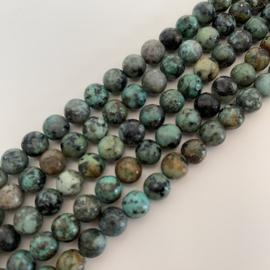 Afrikaanse Turquoise kralen 6 mm RUIG
