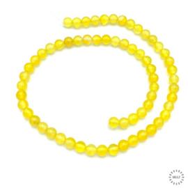 Agaat kralen geel 6 mm