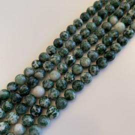 Jaspis Green Spot kralen 6 mm rond