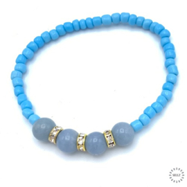 Angeliet armband 17-18 cm geregen op elastiek