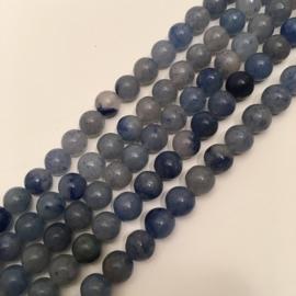 blauwe Aventurijn kralen 6 mm rond