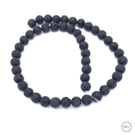 Lava kralen zwart 8 mm