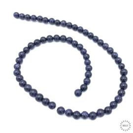 Goudsteen kralen blauw 6 mm