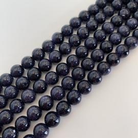blauwe Goudsteen kralen 8 mm rond