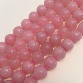 Rozekwarts kralen 10 mm rond