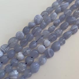 Chalcedoon kralen blauw