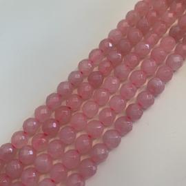 Rozekwarts kralen 6 mm facet