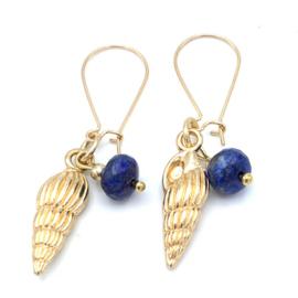 Lapis Lazuli oorbellen goudplated